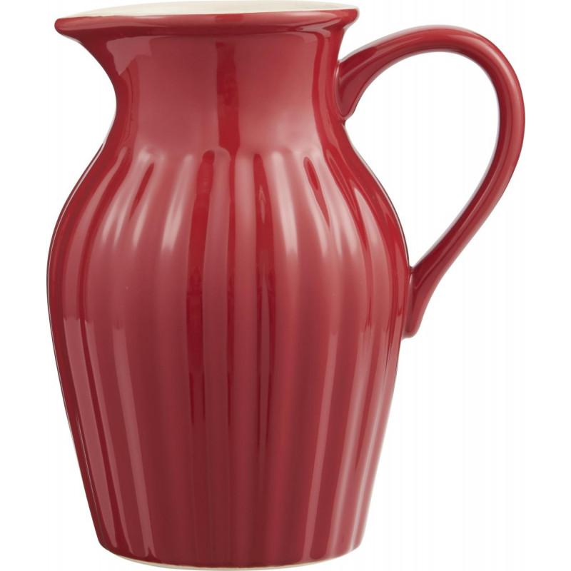 IB Laursen Mynte Kanne 1,7 Liter rot Krug aus Keramik Strawberry
