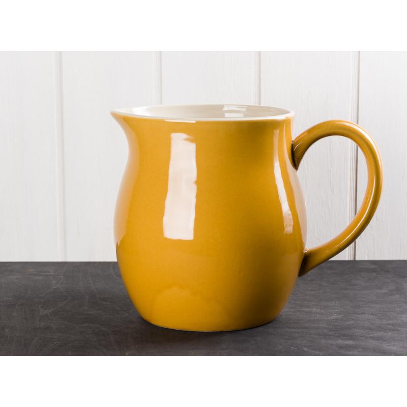IB Laursen Mynte Kanne Gelb Senfgelb Geschirr großer Wasserkrug Serie Mustard Karaffe 2,5 Liter