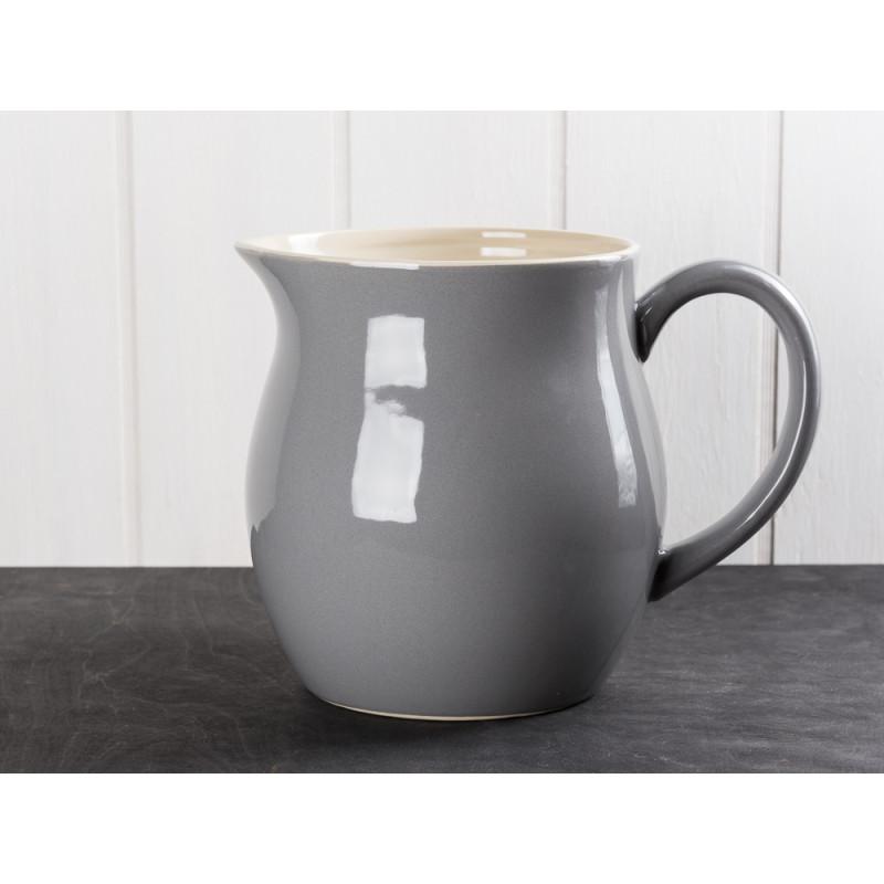 IB Laursen Mynte Kanne Granit Grau Keramik Geschirr großer Wasserkrug Serie Granite Karaffe 2,5 Liter