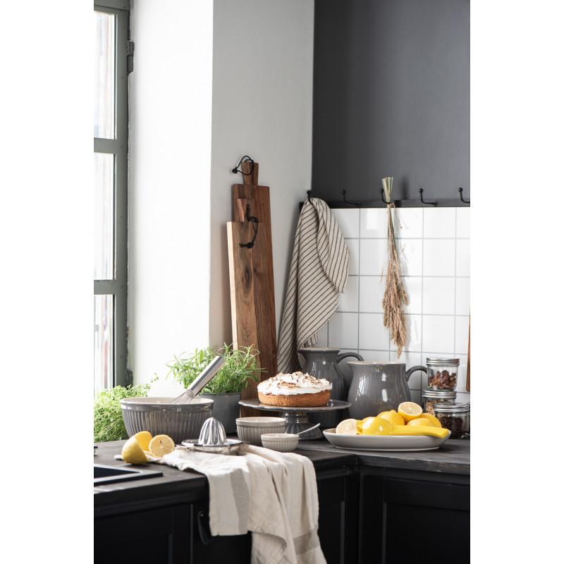 IB Laursen Mynte Kanne Granite Grau Keramik Geschirr großer Krug Dunkelgrau Küche schwarz weiss mit Zitronen