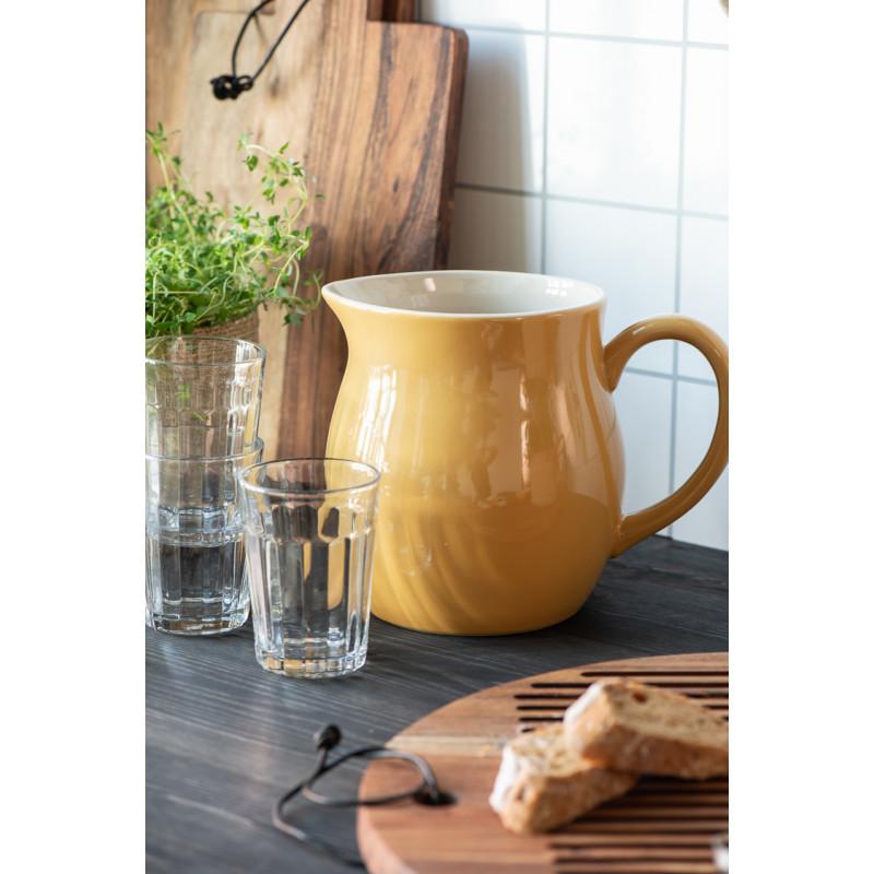 IB Laursen Mynte Kanne Mustard Gelb Keramik Geschirr großer Wasserkrug in Küche modern Hygge
