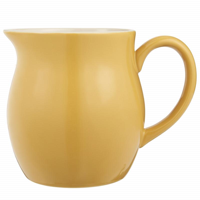 IB Laursen Mynte Kanne Mustard Gelb Keramik Geschirr großer Krug Senfgelb IB Laursen Artikel 2095-03 Karaffe 2,5 Liter