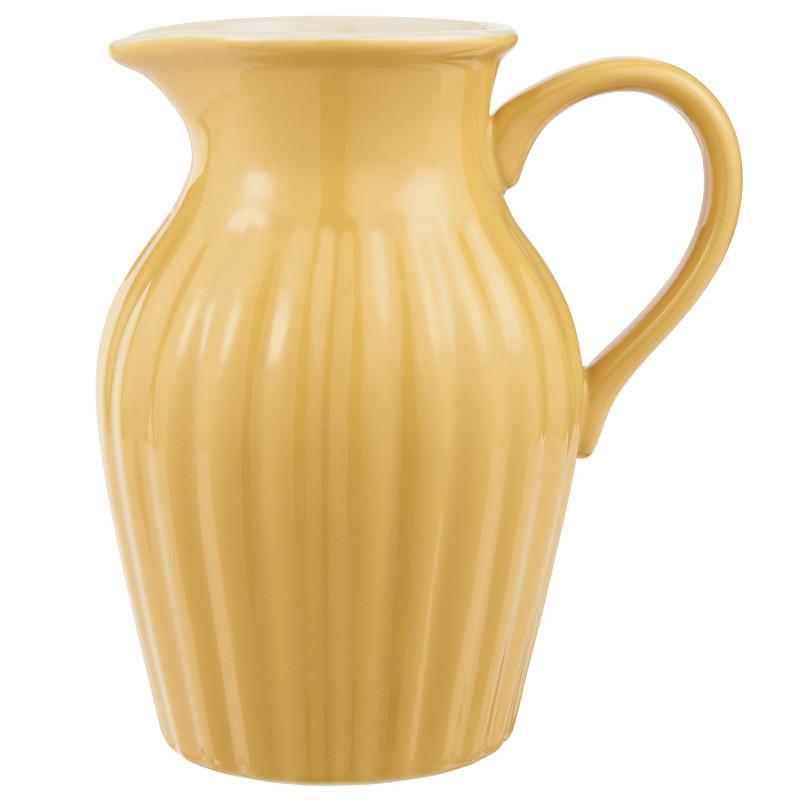 IB Laursen Mynte Kanne Mustard Gelb Keramik Geschirr Krug Senfgelb IB Laursen Artikel 2077-03 Karaffe 1,7 Liter