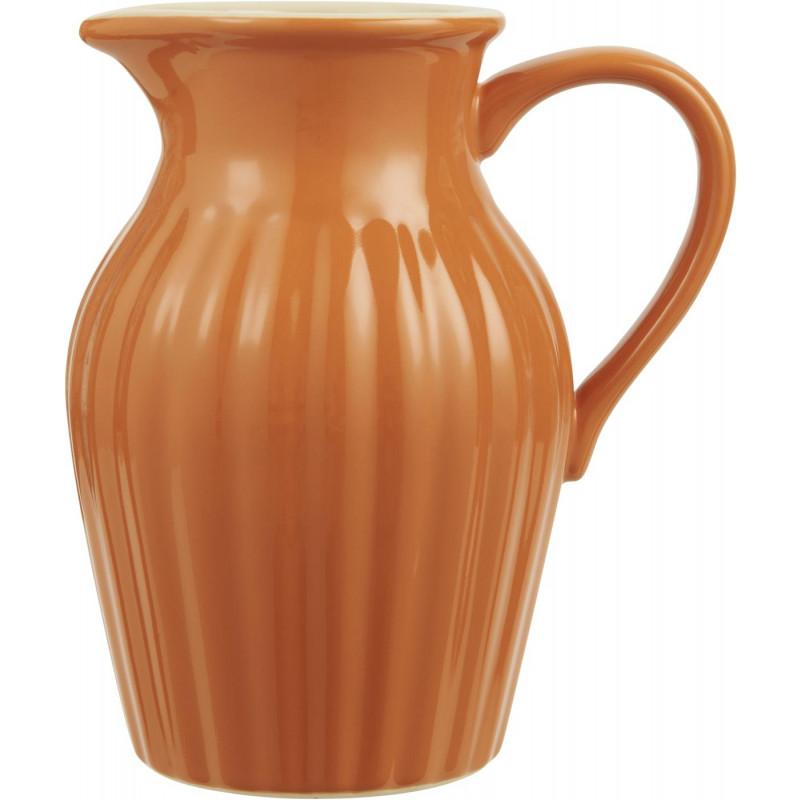IB Laursen Mynte Kanne Orange Keramik Geschirr Pumpkin Spice Krug 1700 ml