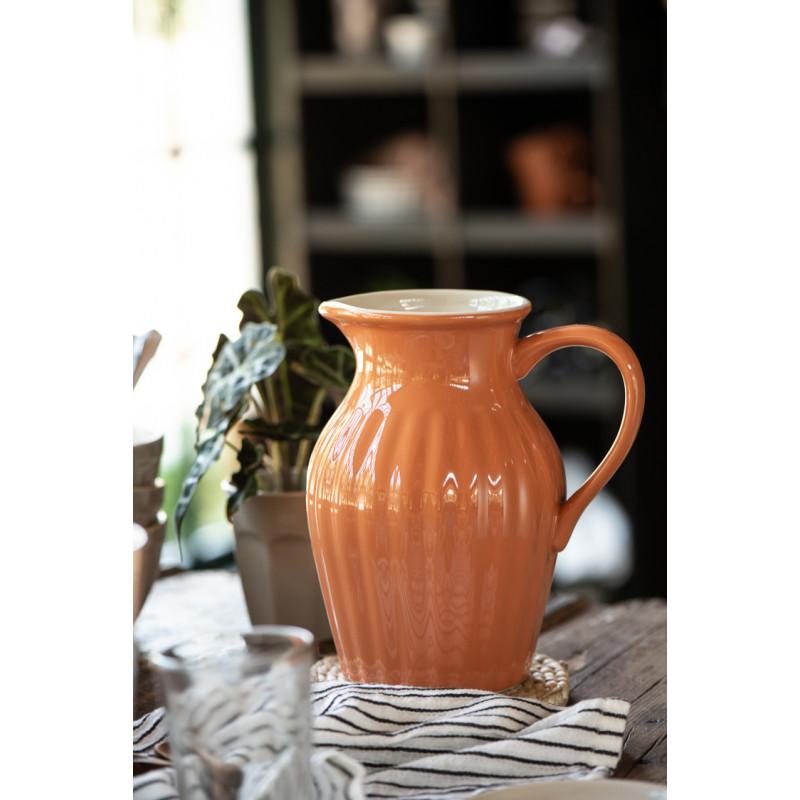 IB Laursen Mynte Kanne Orange Keramik Geschirr Pumpkin Spice Krug auf Tisch