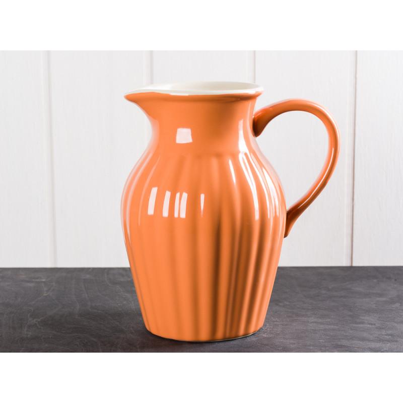 IB Laursen Mynte Kanne Orange Keramik Geschirr Serie Pumpkin Spice Karaffe 1,7 Liter
