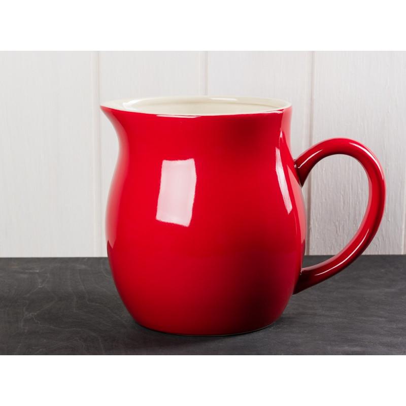 IB Laursen Mynte Kanne rot Keramik Geschirr Serie Strawberry großer Krug für 2,5 Liter