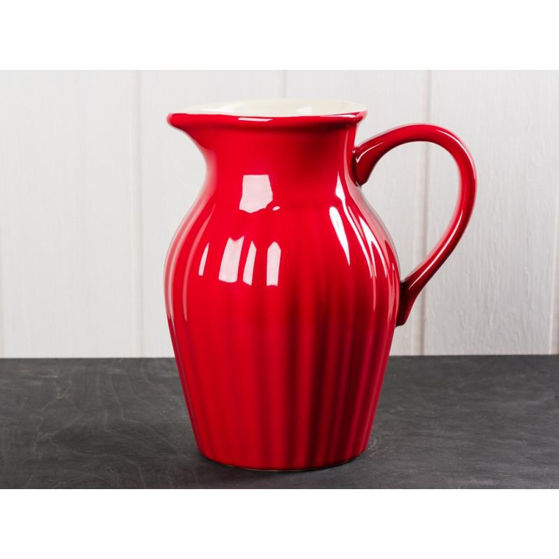 IB Laursen Mynte Kanne rot Keramik Geschirr Serie Strawberry Karaffe 1,7 Liter