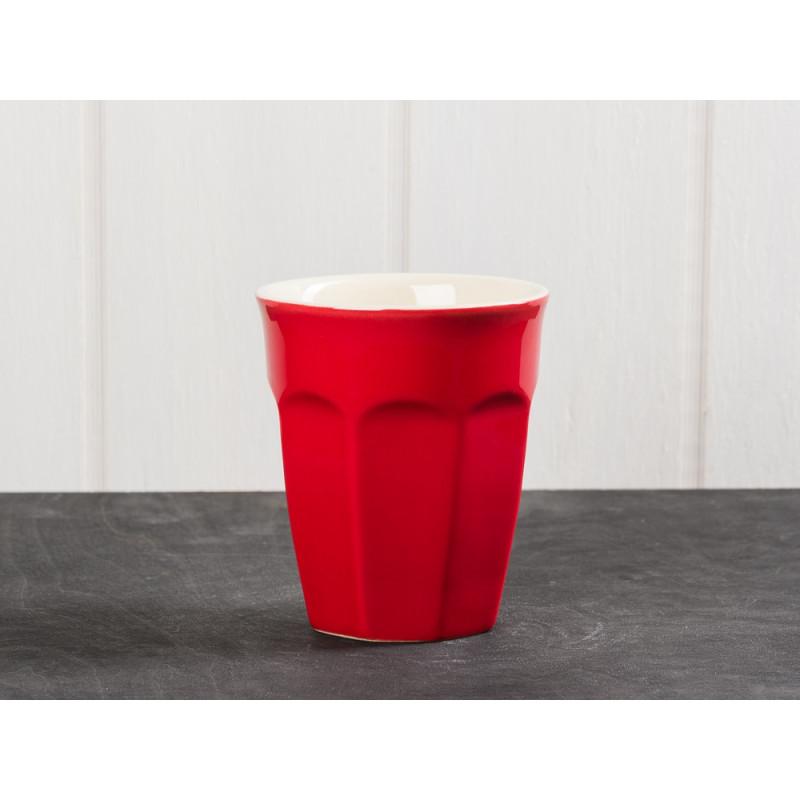 IB Laursen Mynte Latte Becher rot Keramik Geschirr Serie Strawberry