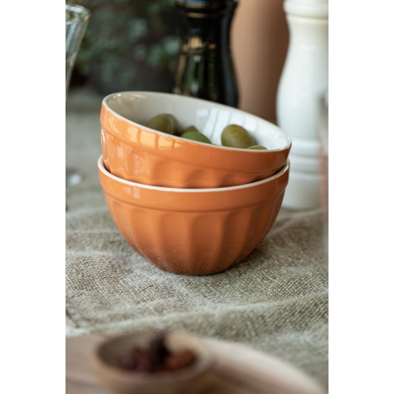IB Laursen Mynte Müslischale Orange Keramik Geschirr Pumpkin Spice Schüssel mit Oliven