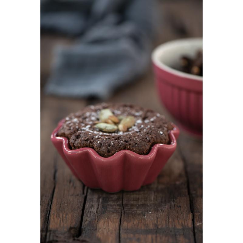 IB Laursen Mynte Muffinform Brombeere Keramik Geschirr Blackberry Parfait Muffinschale Backform Schokokuchen Nüsse