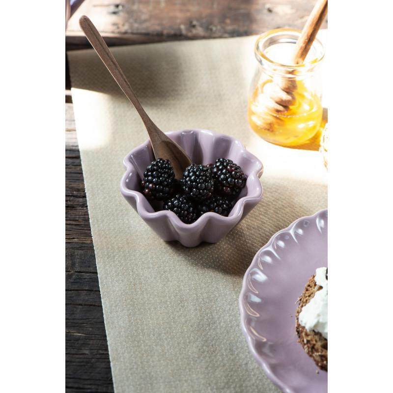 IB Laursen Mynte Muffinschale Lavender Lila Keramik Geschirr Schale mit Brombeeren