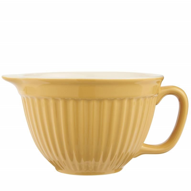 IB Laursen Mynte Rührschüssel Mustard Gelb Keramik Geschirr 1700 ml Schale Senfgelb