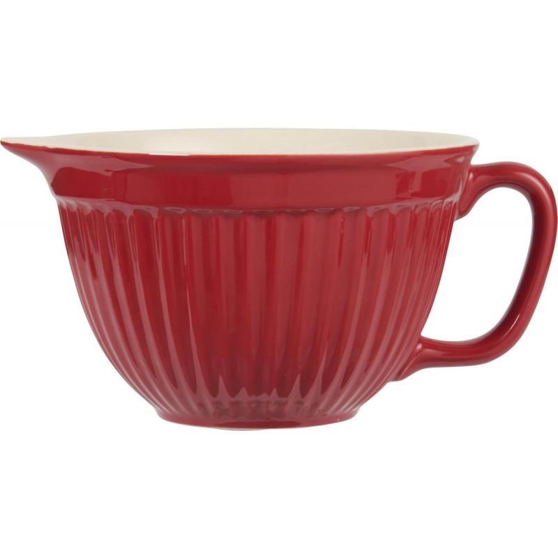 IB Laursen Mynte Rührschüssel rot Schale aus Keramik Strawberry