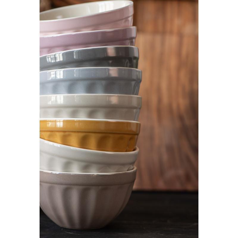 IB Laursen Mynte Schale Mustard Gelb Keramik Geschirr Müslischalen Stapel Detail