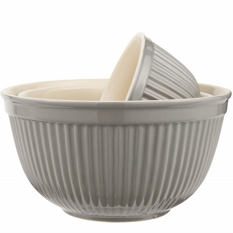 IB Laursen Mynte Schalensatz Granite Grau Keramik Geschirr 3 Schüsseln im Set IB Laursen Artikel 2074-16