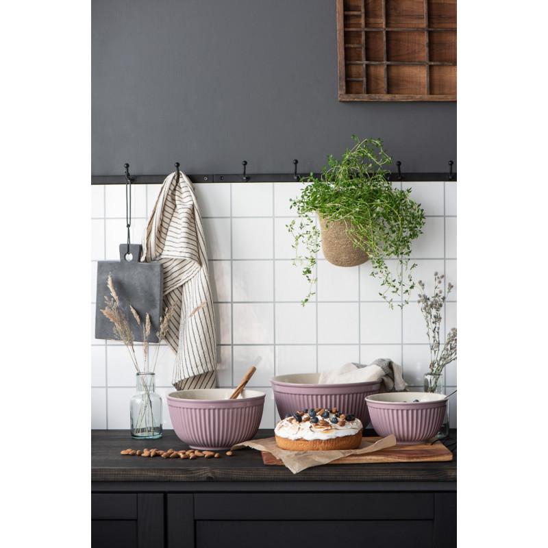 IB Laursen Mynte Schalensatz Lavender Lila Keramik Geschirr 3 Schüsseln im Set Hygge Küche schwarz weiß