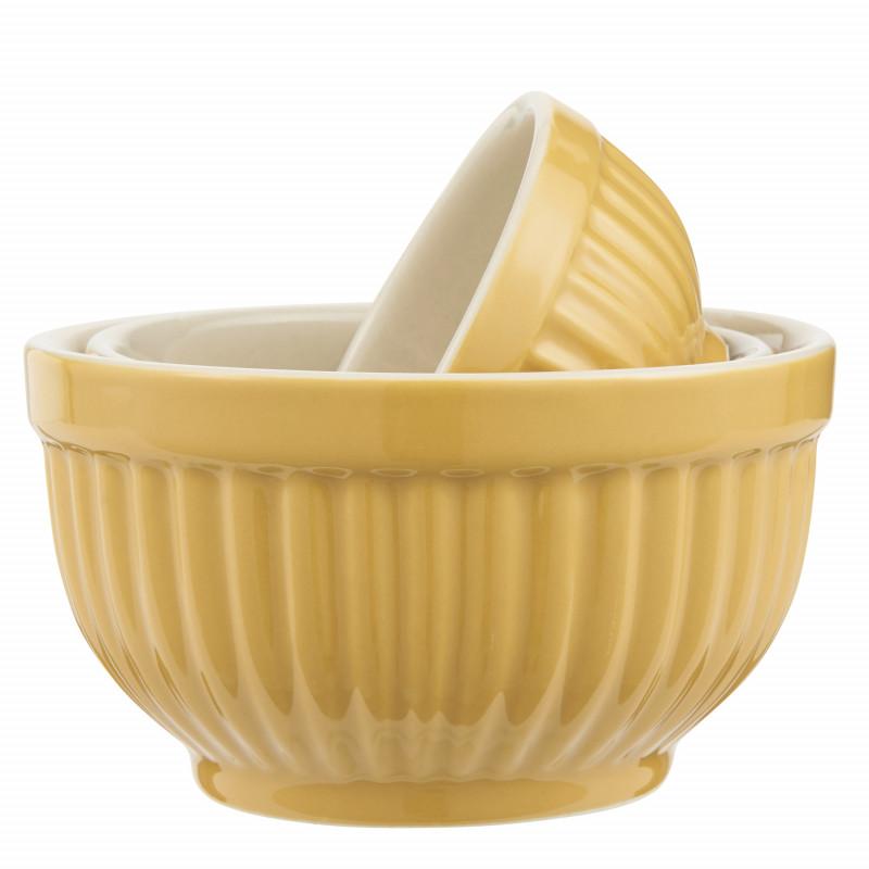 IB Laursen Mynte Schalensatz Mustard Gelb Mini Keramik Geschirr 3 kleine Schüsseln im Set IB Laursen Artikel 2047-03