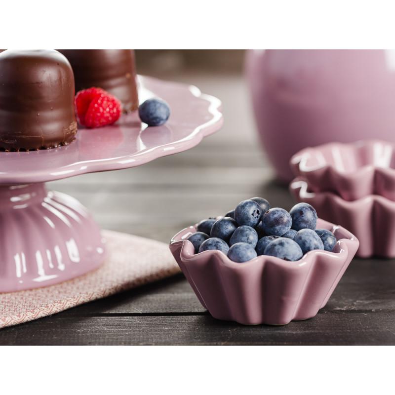IB Laursen Mynte Shop Geschirr Lavendel Lila Lavender Muffinform mit Beeren und Tortenplatte