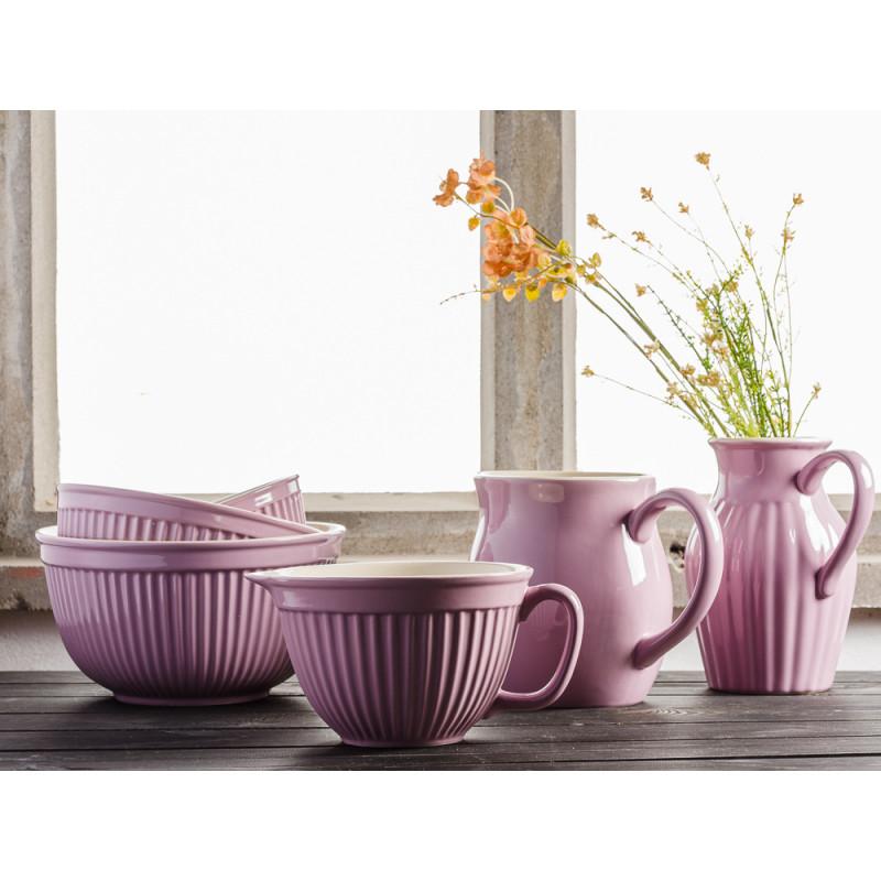 IB Laursen Mynte Shop Geschirr zum Backen Lavendel Lila Lavender Krug 1,7 und 2,5 Liter Schalensatz groß und Rührschüssel