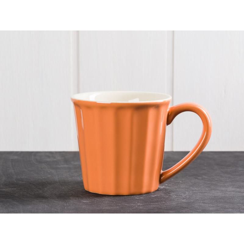 IB Laursen Mynte Becher Tasse Orange Keramik Geschirr Serie Pumpkin Spice 250 ml