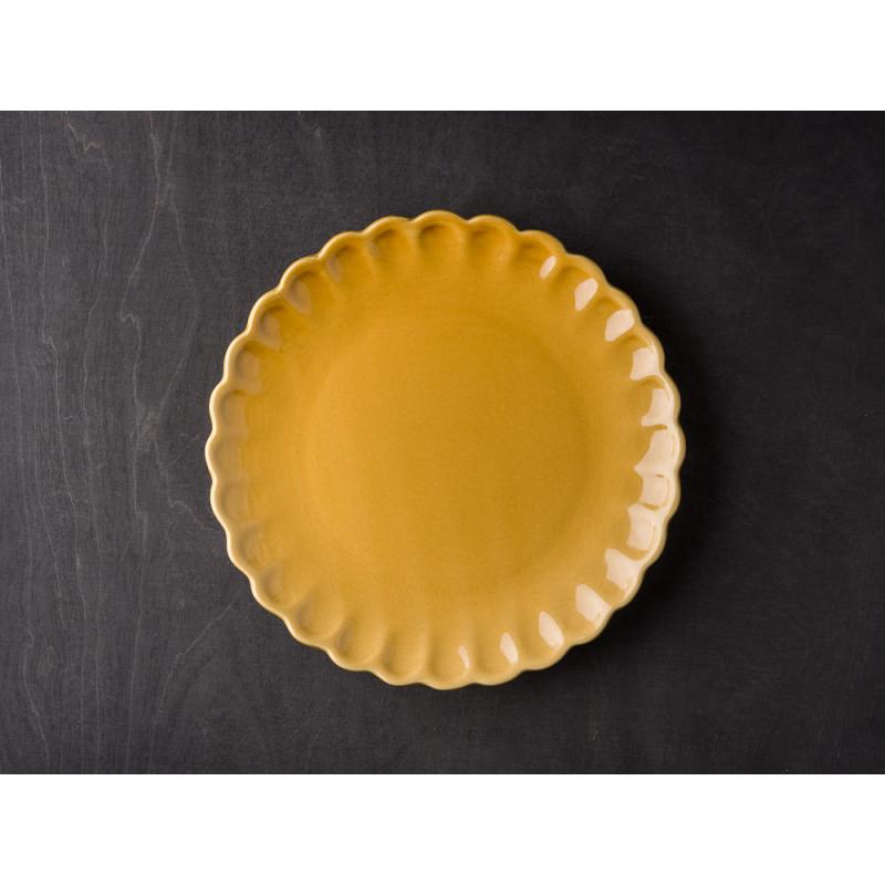 IB Laursen Mynte Teller Gelb Senfgelb Keramik Geschirr Serie Mustard Kuchenteller
