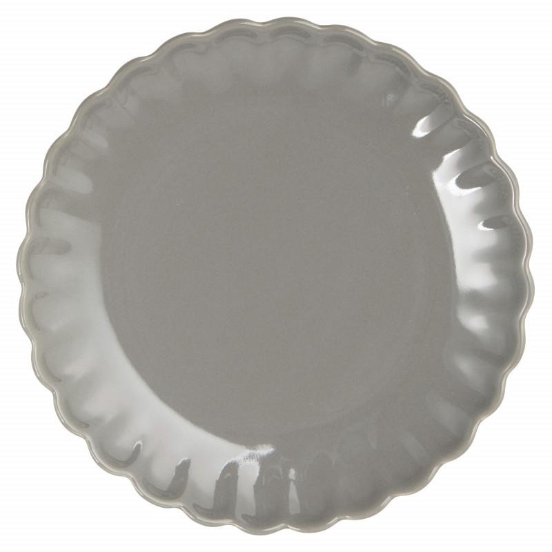 IB Laursen Mynte Teller Granite Grau Keramik Geschirr Kuchenteller 21 cm Dunkelgrau