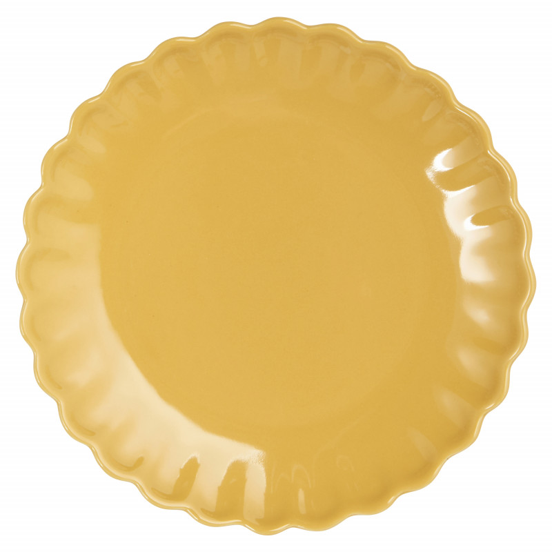 IB Laursen Mynte Teller Mustard Gelb Keramik Geschirr Kuchenteller 21 cm Senfgelb
