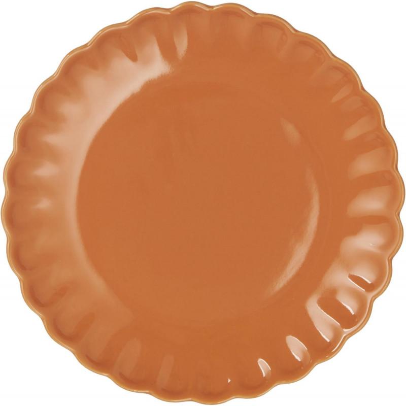 IB Laursen Mynte Teller Orange Keramik Geschirr Pumpkin Spice Kuchenteller 21 cm