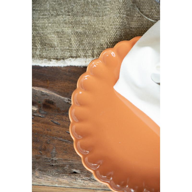 IB Laursen Mynte Teller Orange Keramik Geschirr Pumpkin Spice Kuchenteller Detail