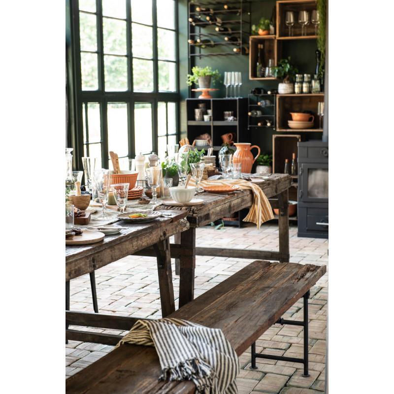 IB Laursen Mynte Teller Orange Keramik Geschirr Pumpkin Spice Kuchenteller gedeckter Tisch Küche