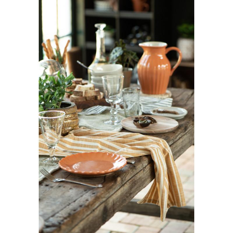 IB Laursen Mynte Teller Orange Keramik Geschirr Pumpkin Spice Kuchenteller Tischdekoration