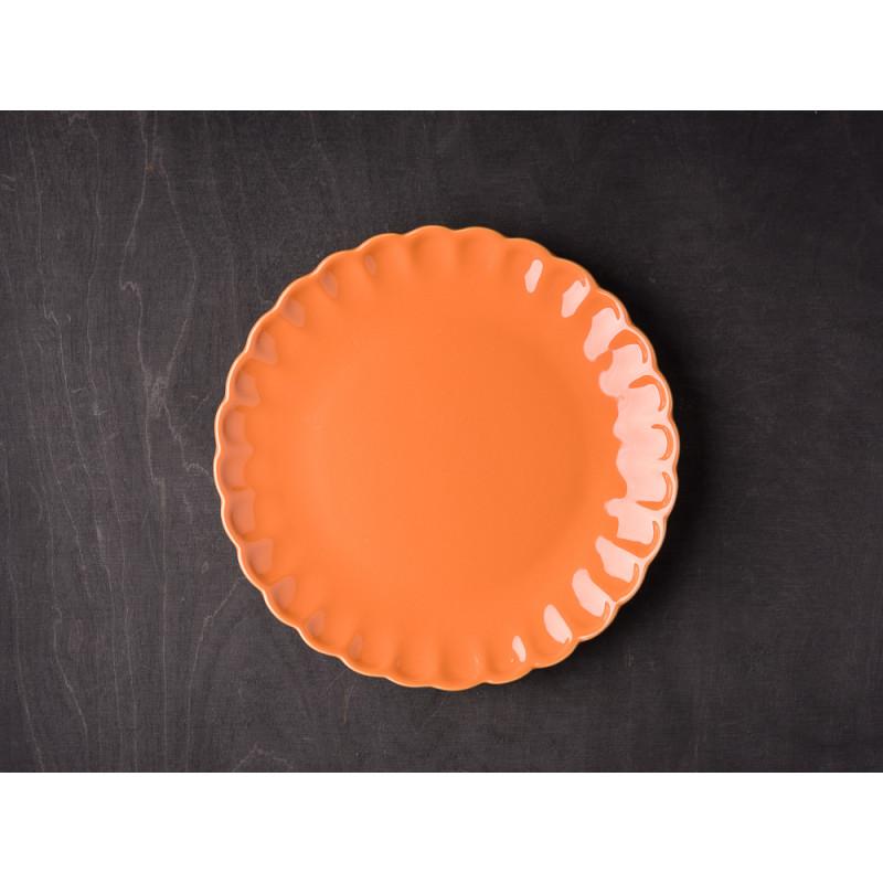 IB Laursen Mynte Teller Orange Keramik Geschirr Serie Pumpkin Spice Kuchenteller