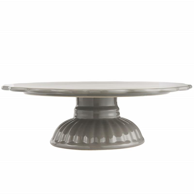 IB Laursen Mynte Tortenplatte Granite Grau Keramik Geschirr Servierplatte Dunkelgrau