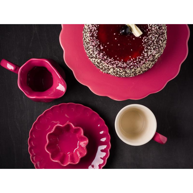 IB Laursen Mynte Tortenplatte Kanne Becher Teller Muffinform in Brombeere Keramik Geschirr Serie Blackberry Parfait Torte