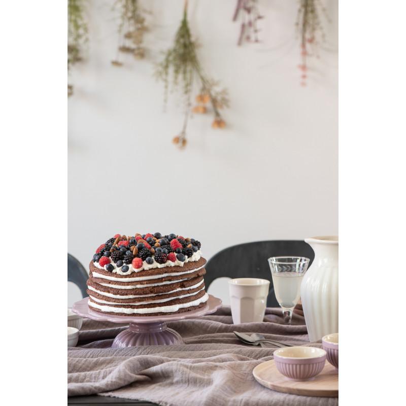 IB Laursen Mynte Tortenplatte Lavender Lila Keramik Geschirr mit Kuchen Latte Becher und Schale Krug