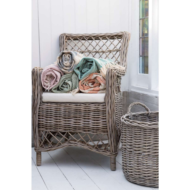 ib laursen plaid creme rosa karo muster wolldecke aus. Black Bedroom Furniture Sets. Home Design Ideas