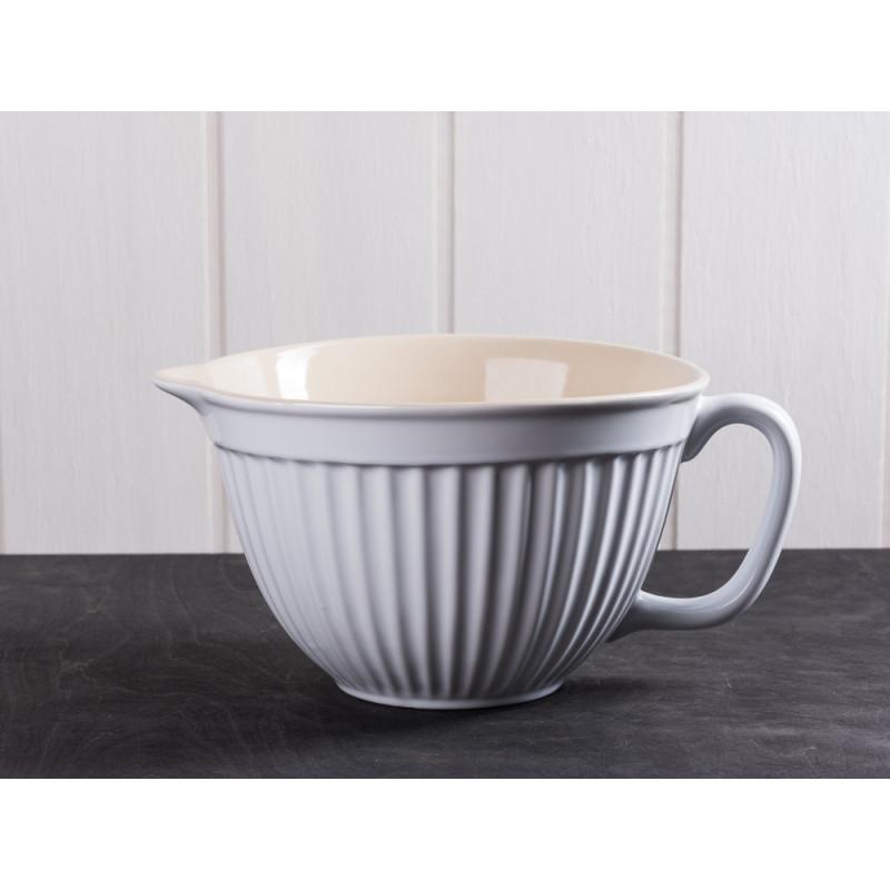 IB Laursen Rührschüssel mit Henkel und Ausgießer weiß Mynte Keramik Kollektion Pure White