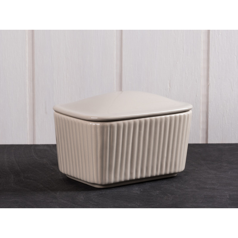 IB Laursen Salzbox beige aus Keramik Mynte Keramik Kollektion Butterdose Latte