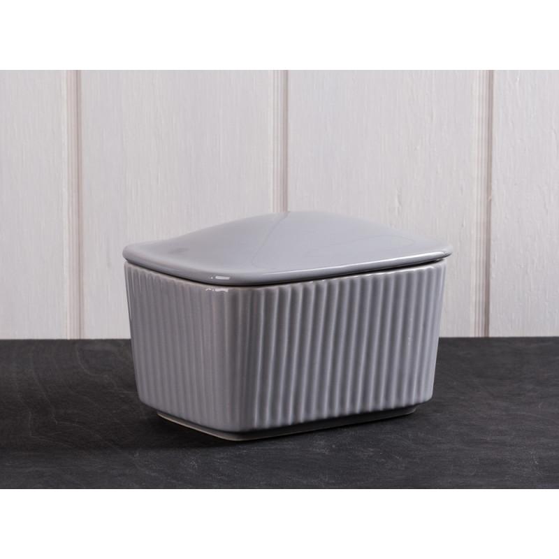IB Laursen Salzbox grau aus Keramik Mynte Keramik Kollektion Butterdose French Grey