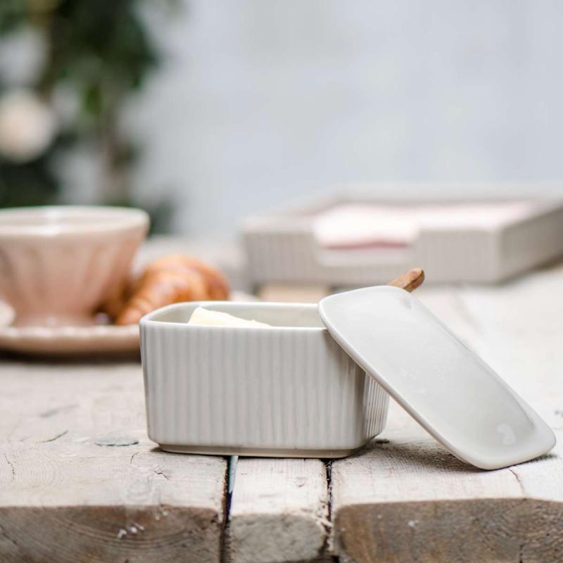 IB Laursen Salzbox mit Deckel Mynte Latte beige