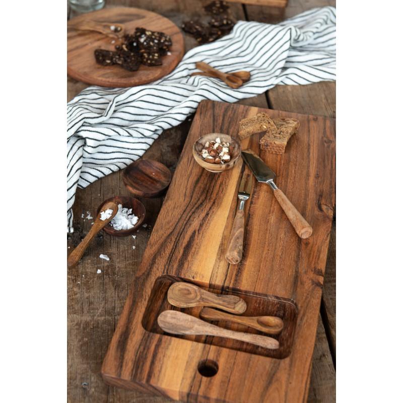 IB Laursen Salzlöffel aus Akazienholz Holzlöffel Holzbretter