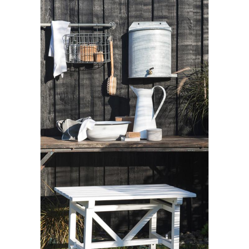 IB Laursen Schale Waschgefäß Emaille Schüssel Waschschüssel Bad im Garten