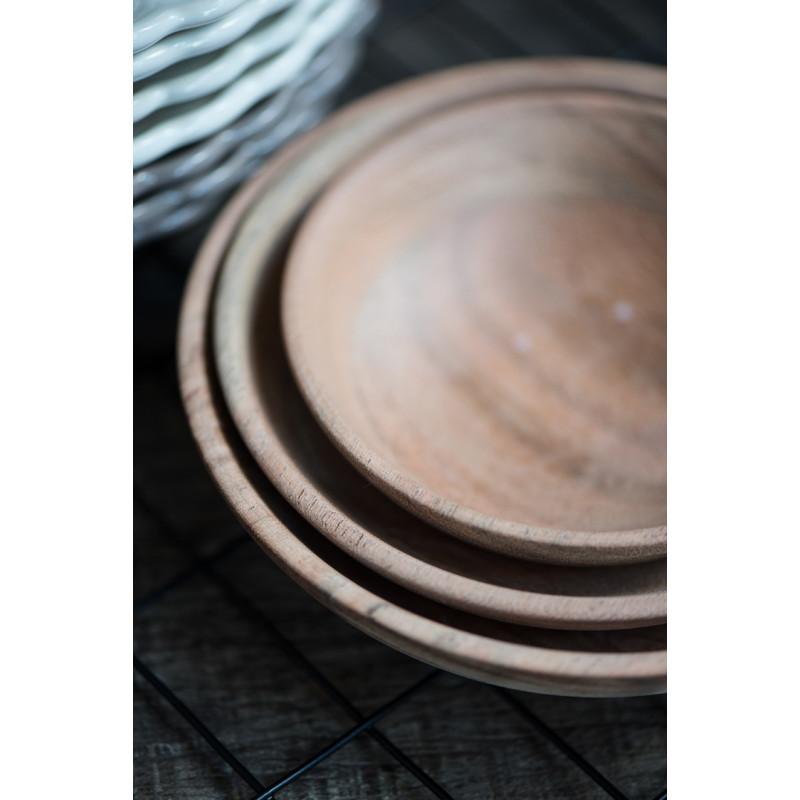IB Laursen Schalensatz Akazie 3er Set Tapas Holzschalen aus Akazienholz Details Rand