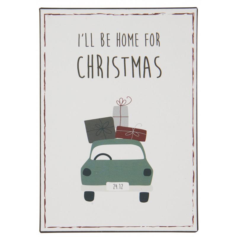 IB Laursen Schild I ll be home for Christmas Deko Weihnachten
