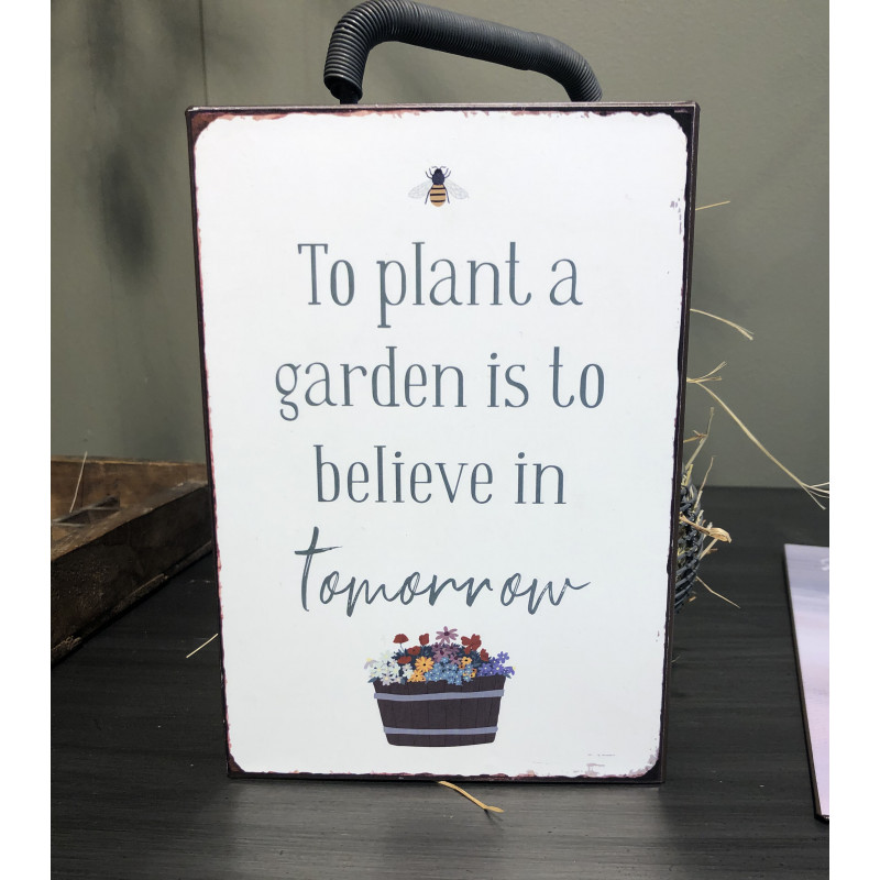 IB Laursen Schild Plant a garden believe in tomorrow Garten Deko Blechschild IB Laursen Shop Nr 70064