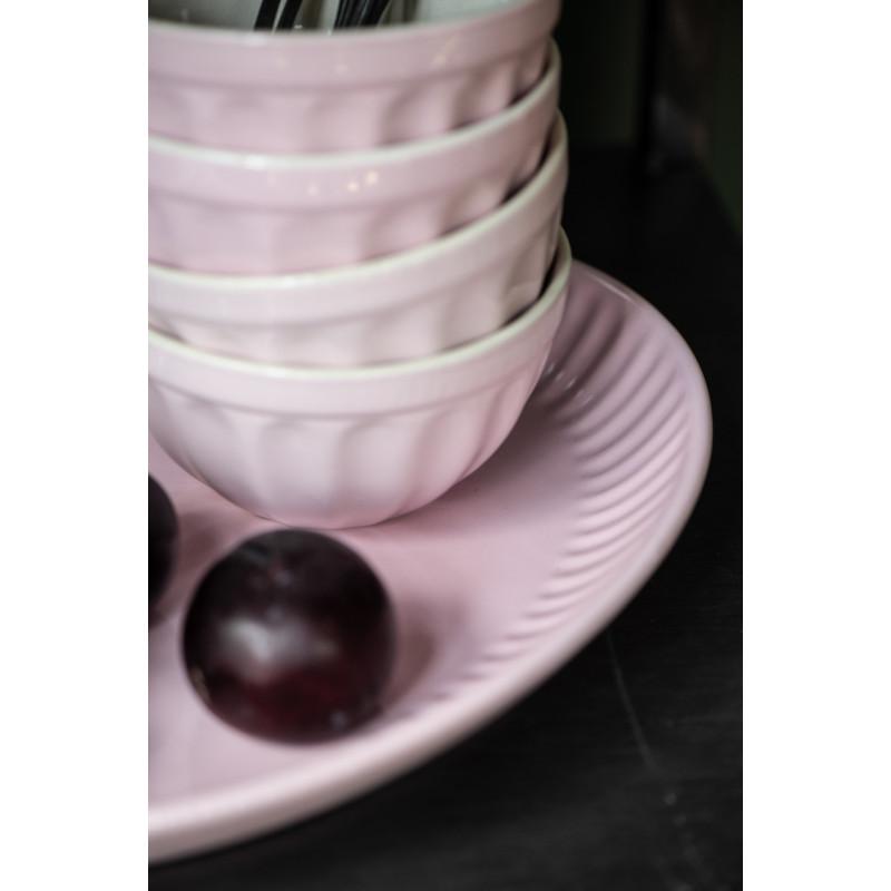 Ib Laursen Servierplatte Mynte pastell rosa 30 cm Detail