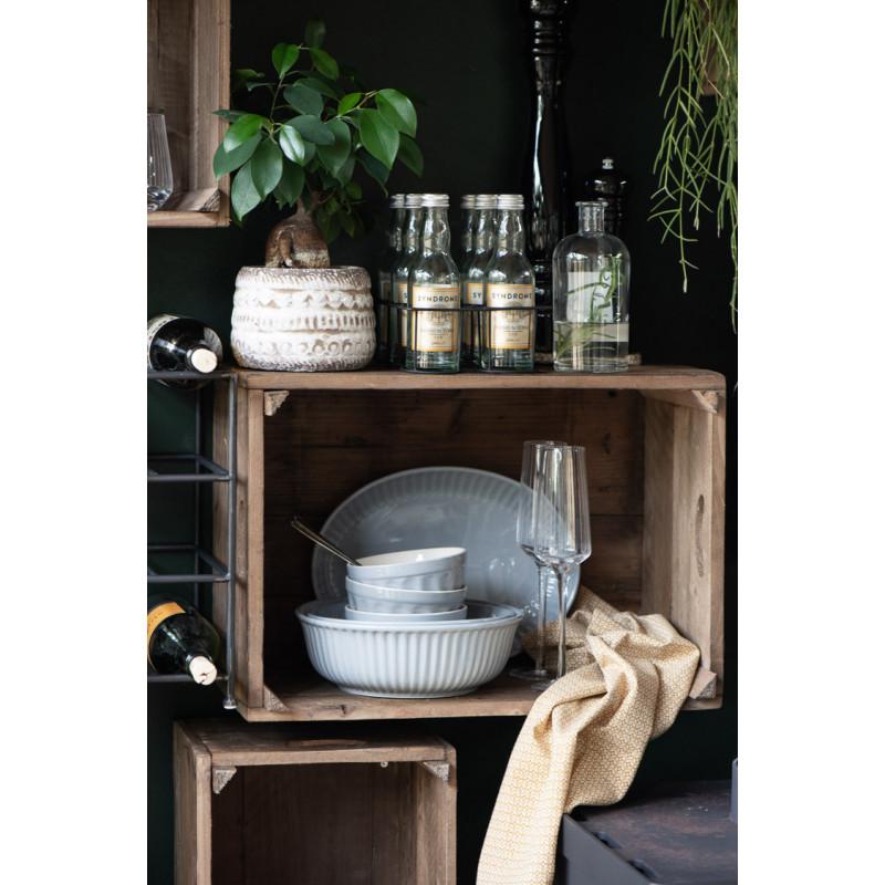 Ib Laursen Servierschale Mynte grau Geschirr Keramik Küche