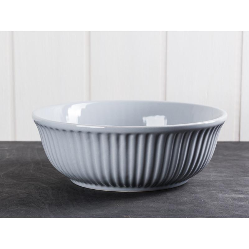 IB Laursen Servierschale Mynte grau 21 cm Keramik Geschirr Schüssel Serie French Grey