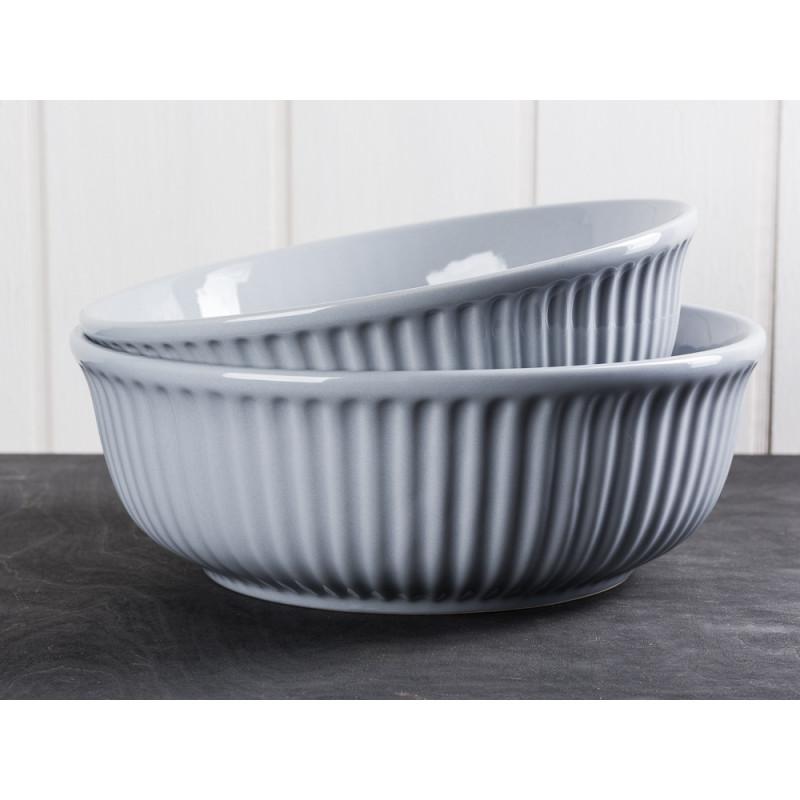 IB Laursen Servierschale Mynte grau 21 cm und 23 cm Keramik Geschirr Schüssel Serie French Grey vergleich